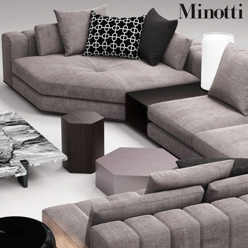 Minotti Freeman Seat 3d Max Corner Sofa Design Sofa Design Living Room Sofa Design