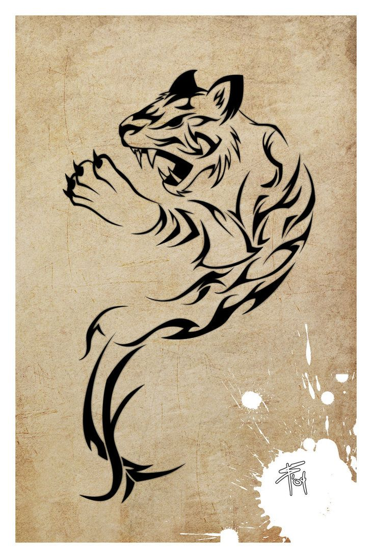Year Of The Tiger Tattoo By Slawomiro On Deviantart Projects To