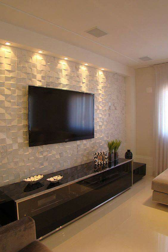 Wallpaper Wall Tiles Neutral Living Room Home Living Room