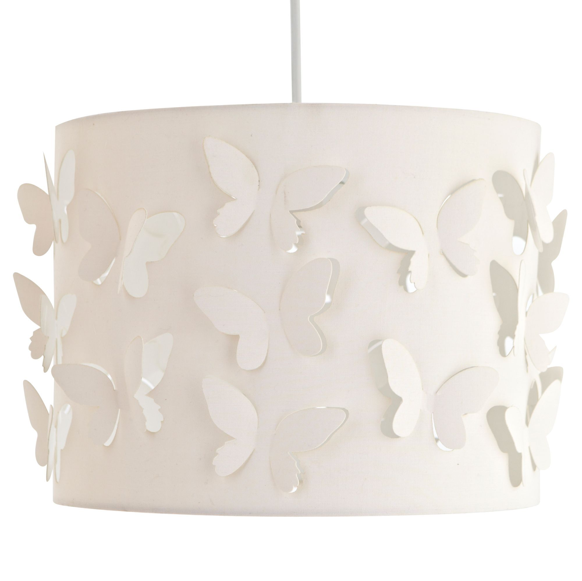 Colours carriera cream butterfly cut out light shade d300mm colours carriera cream butterfly cut out light shade dia300mm departments diy at bq aloadofball Image collections
