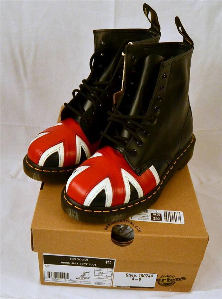 Women's Dr. Martens 1460 8-Eye Boot British Union Jack Smooth Size US Women 8 #DrMartens #FashionMidCalf