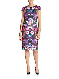 Betsey Johnson - Floral Print Sheath Dress