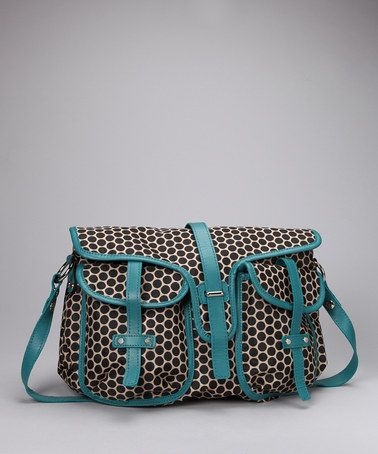 Ummm...super cute for a diaper bag! Turquoise Reese Diaper Bag by Mia Bossi on #zulily today!