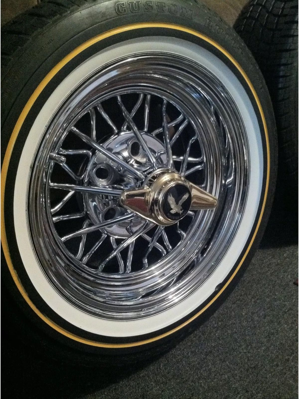 14x6 Cragar 30 Spoke Starwire Wheels with Vogue Tires ...