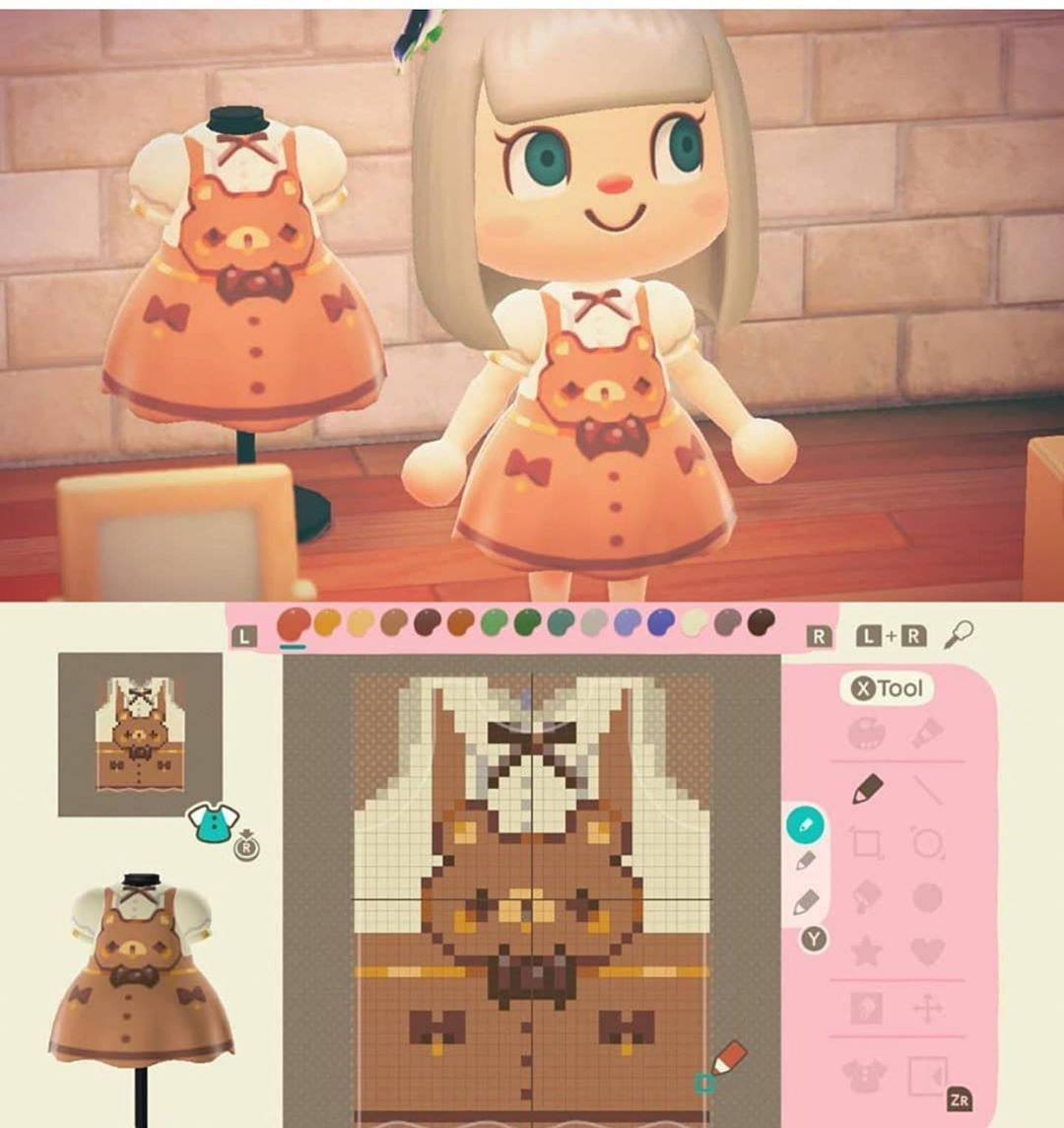 330 Likes 8 Comments Animal Crossing New Horizon Animalcrossingoutfits On Instagram Bear Overal Animal Crossing Animal Crossing Qr Animal Crossing Game