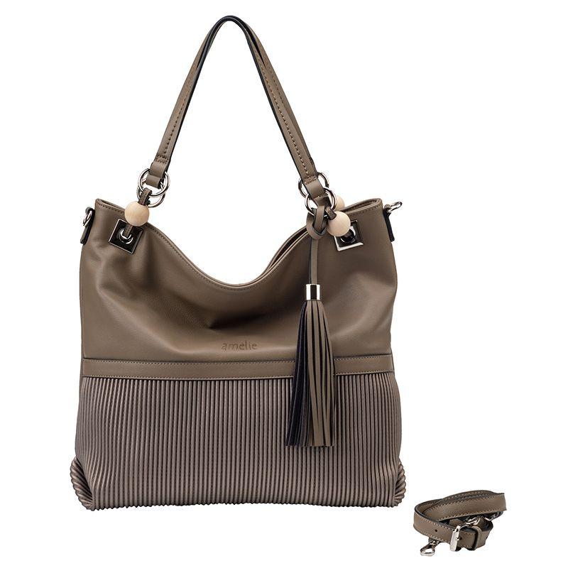 b19cbcc6d4 Τσάντα χειρός - τσάντα ώμου με φούντα