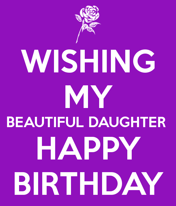 Spiksplinternieuw WISHING MY BEAUTIFUL DAUGHTER HAPPY BIRTHDAY Poster | Billy | Keep OZ-68