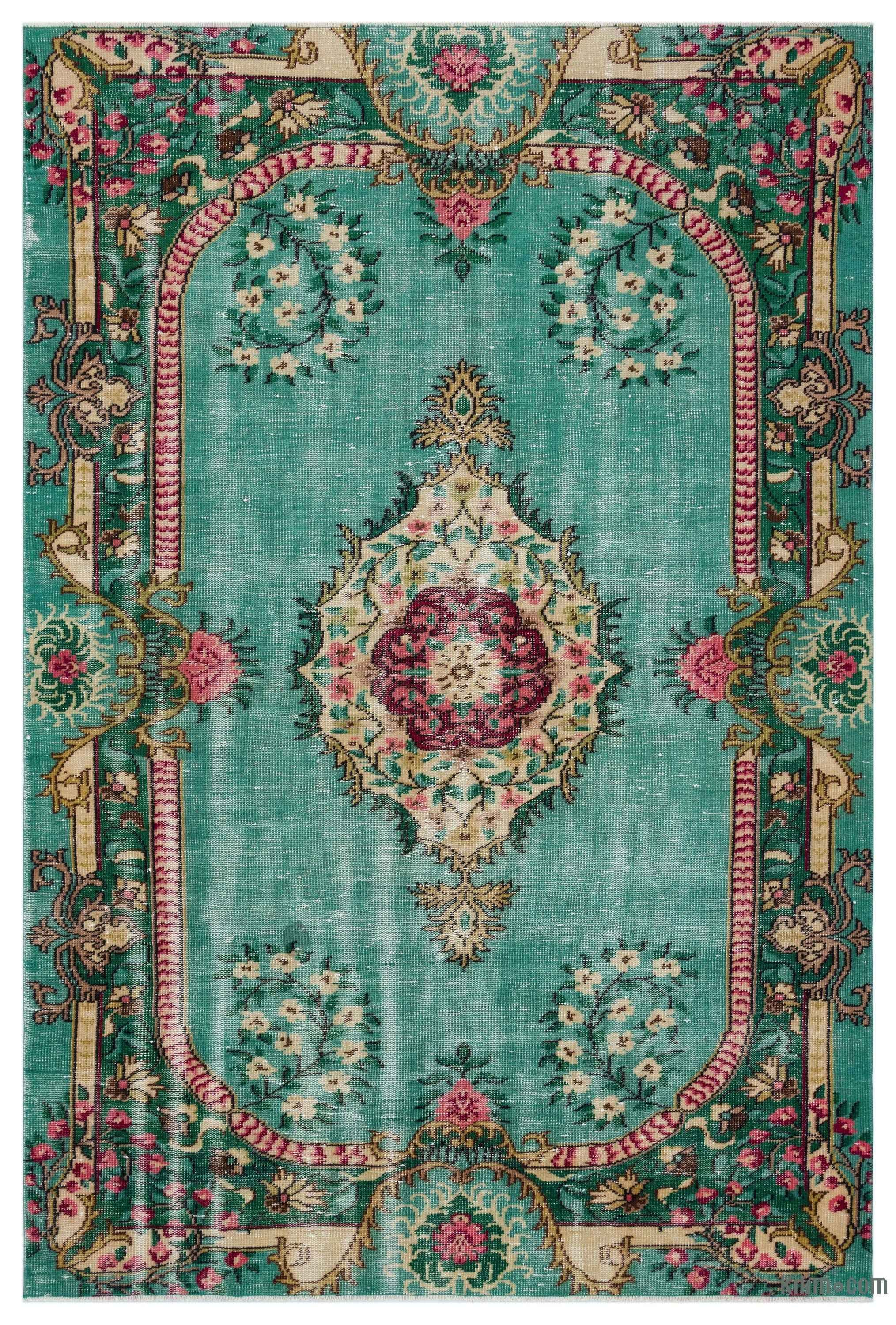Turkish Vintage Area Rug 5 4 X 8 1 64 In X 97 In
