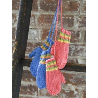Caron Simply Soft Knit Striped Mittens | Kids knitting ...