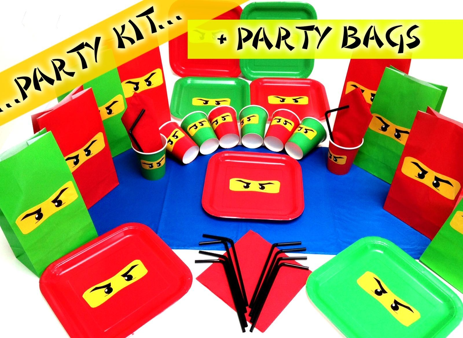 Lego ninjago ninja #turtles #birthday party pack plates cups party bags #napikin  sc 1 st  Pinterest : lego tableware - pezcame.com