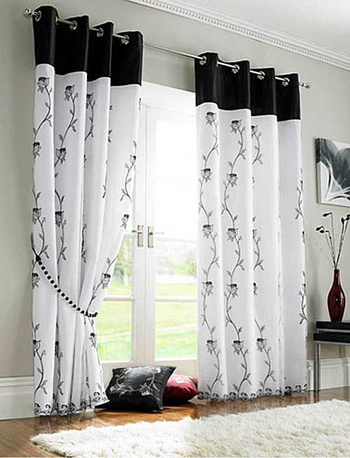 Black And White Curtains For Living Room Rooms With Grey Sofas Modern Design Home Decor Pinterest
