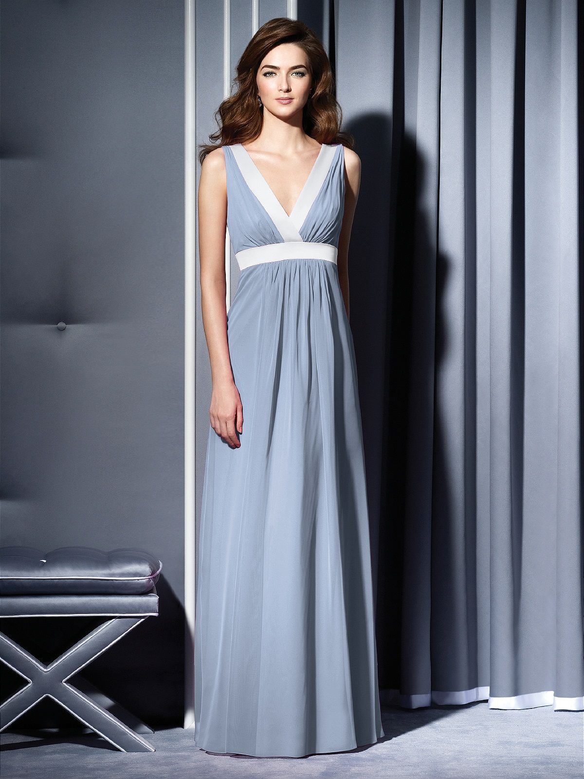 Dessy dress in cloudy with frost trim gowns pinterest gowns