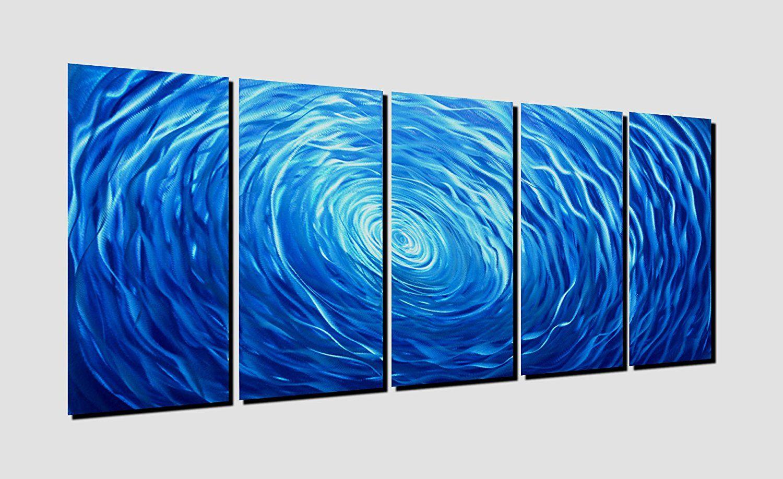 Amazon winpeak pure handcraft blue vortex aluminum metal wall