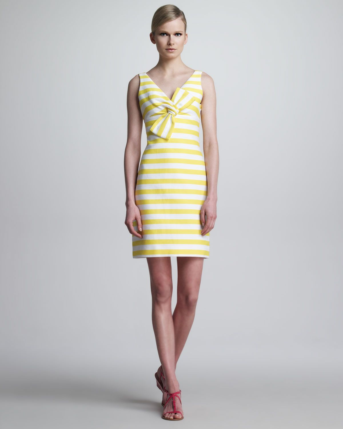 Kate spade new york silverscreen sleeveless striped bow dress kate spade new york silverscreen sleeveless striped bow dress neiman marcus ombrellifo Image collections