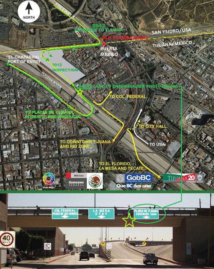 bajadocks WunderBlog New Tijuana Border Crossing Map Weather