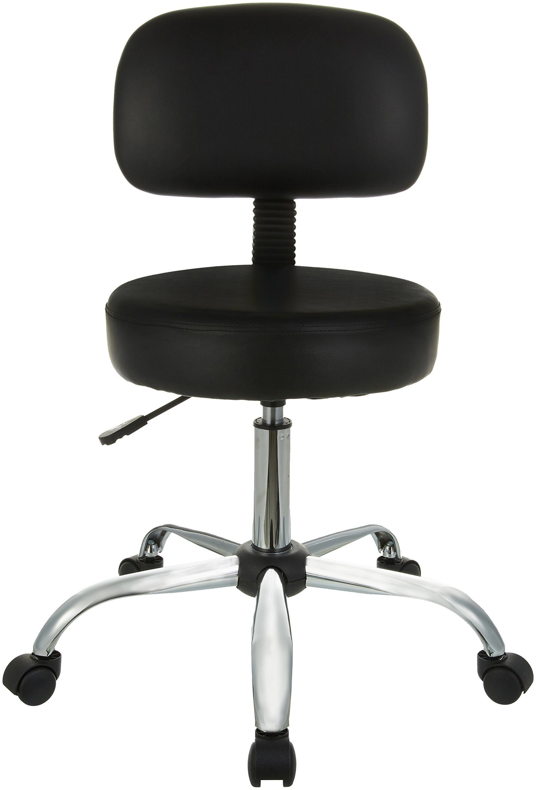 Amazonbasics Drafting Stool With Back Cushion Black Details Could Be Found By Clicking The Photo This I Stools With Backs Bar Stools With Backs Bar Stools