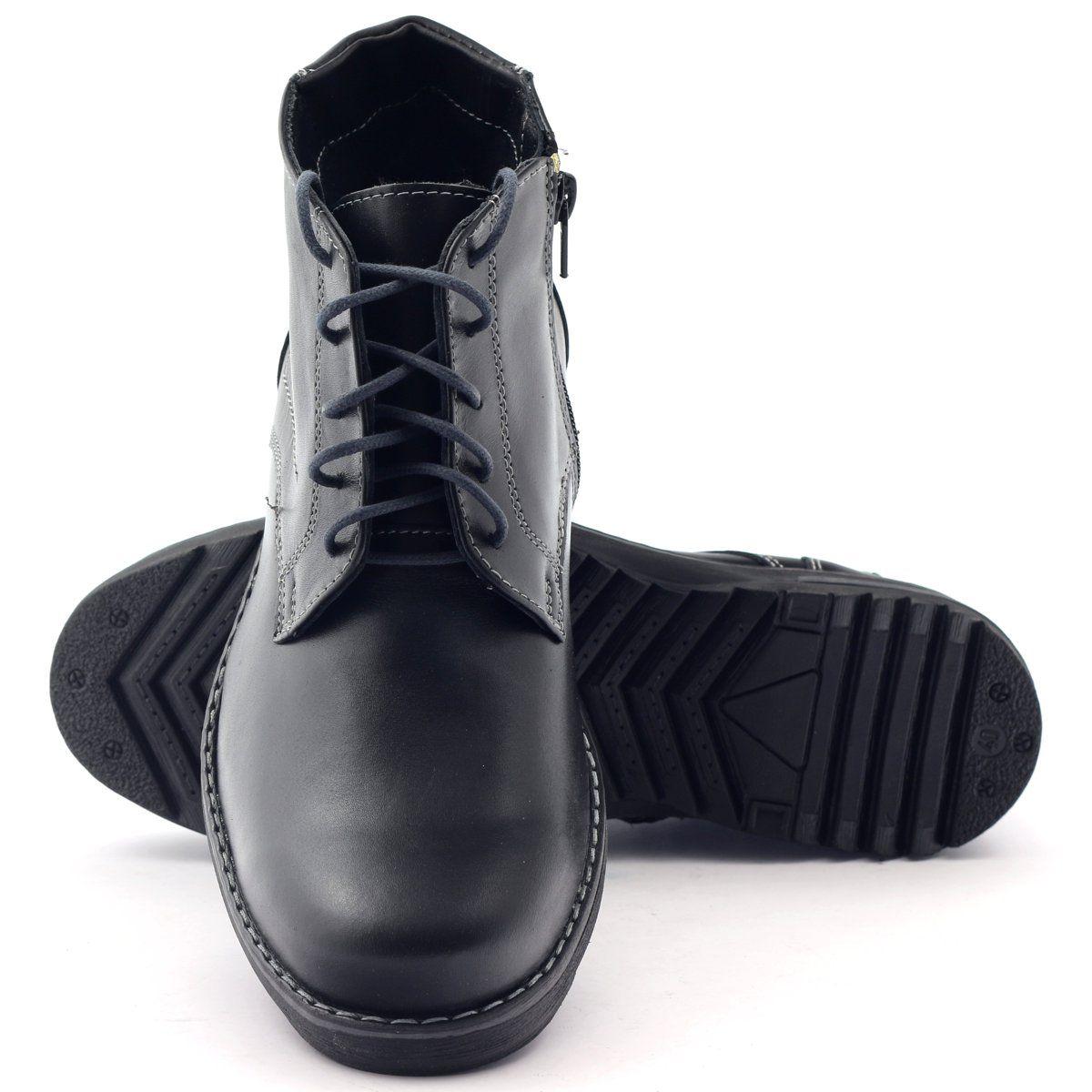 Trzewiki Meskie Skorzane Czarne Naszbut 954 Combat Boots Boots Dr Martens Boots