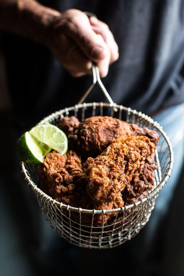 Almond Buttermilk Jamaican Fried Chicken Hbh Recipe Recipes Food Fried Chicken Recipes