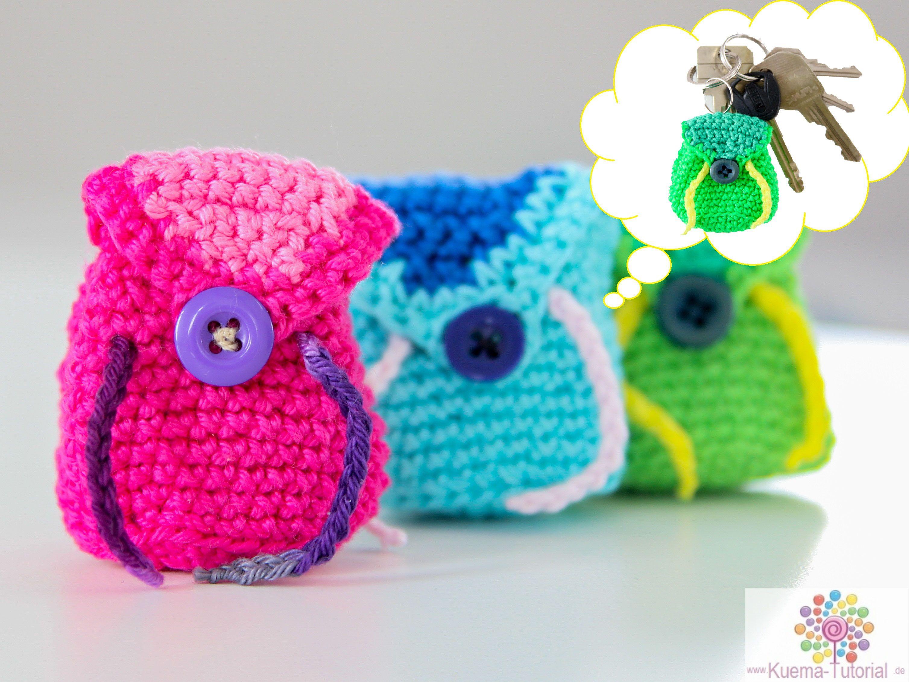 Täschchen Rucksack Häkeln Für Einkaufschip Häkeln Pinterest