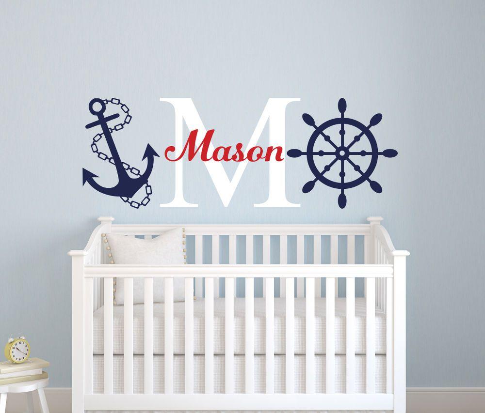 Baby Nash S Vintage Nautical Nursery: Custom Nautical Boy Name Wall Decal