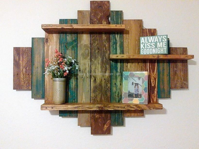 Recycled Pallet Shelf Pallets Pinterest Pallet