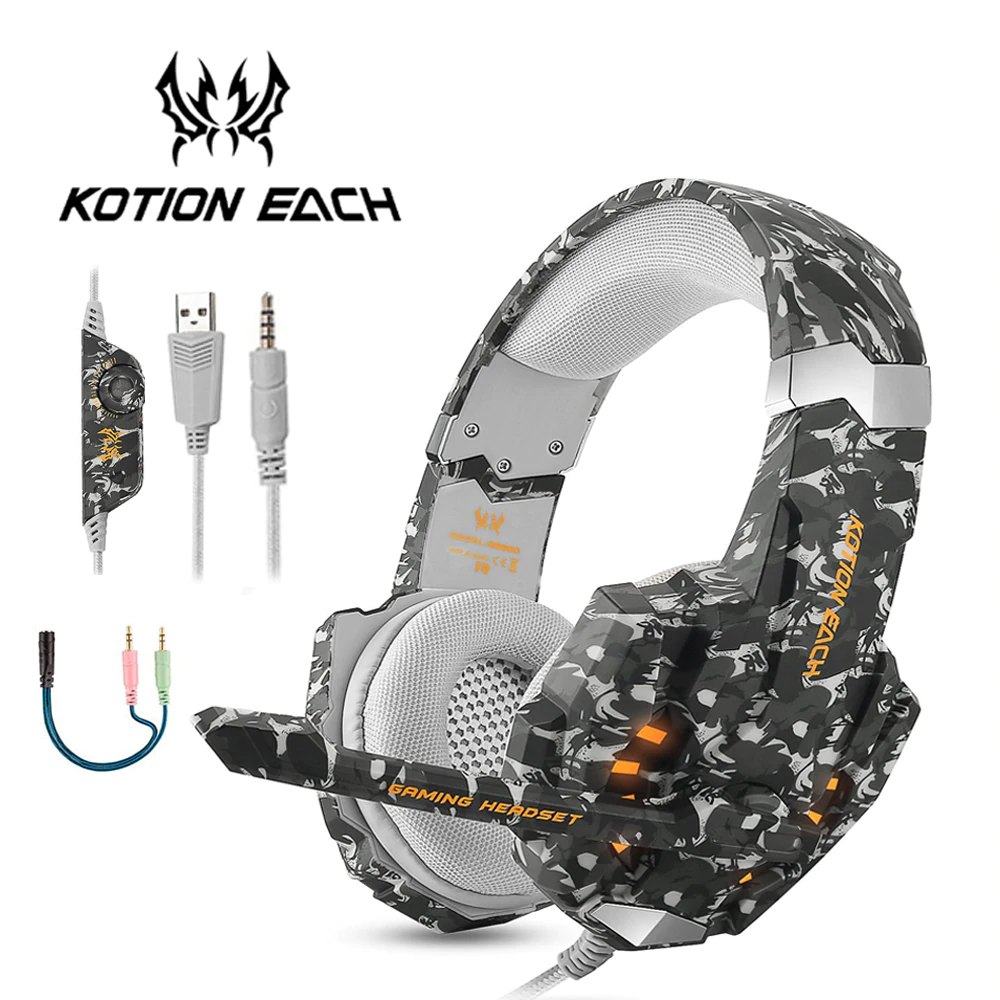 KOTION EACH G9600 Stereo Camouflage Gaming Headset Noise