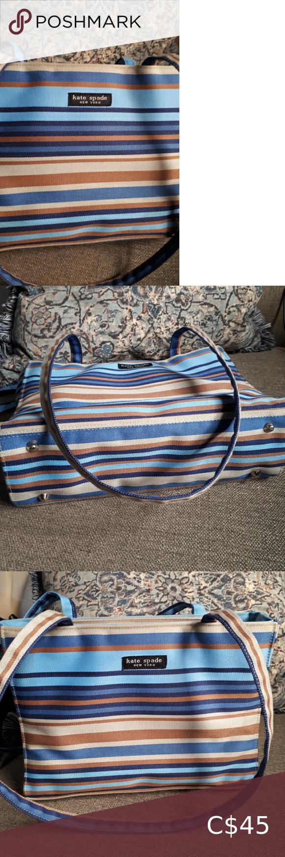 Kate Spade Striped Shoulder Bag