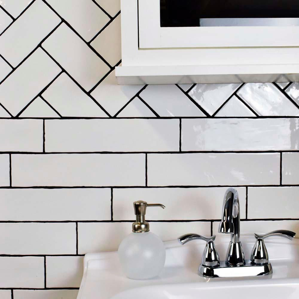 Merola tile chester bianco 3 in x 6 in ceramic wall tile 1 sq ft merola tile chester bianco 3 in x 6 in ceramic wall tile 1 sq ft pack ceramic wall tiles wall tiles and chester dailygadgetfo Gallery