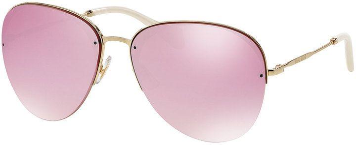 ad055e702e62 Miu Miu Oversized Metal Sunglasses