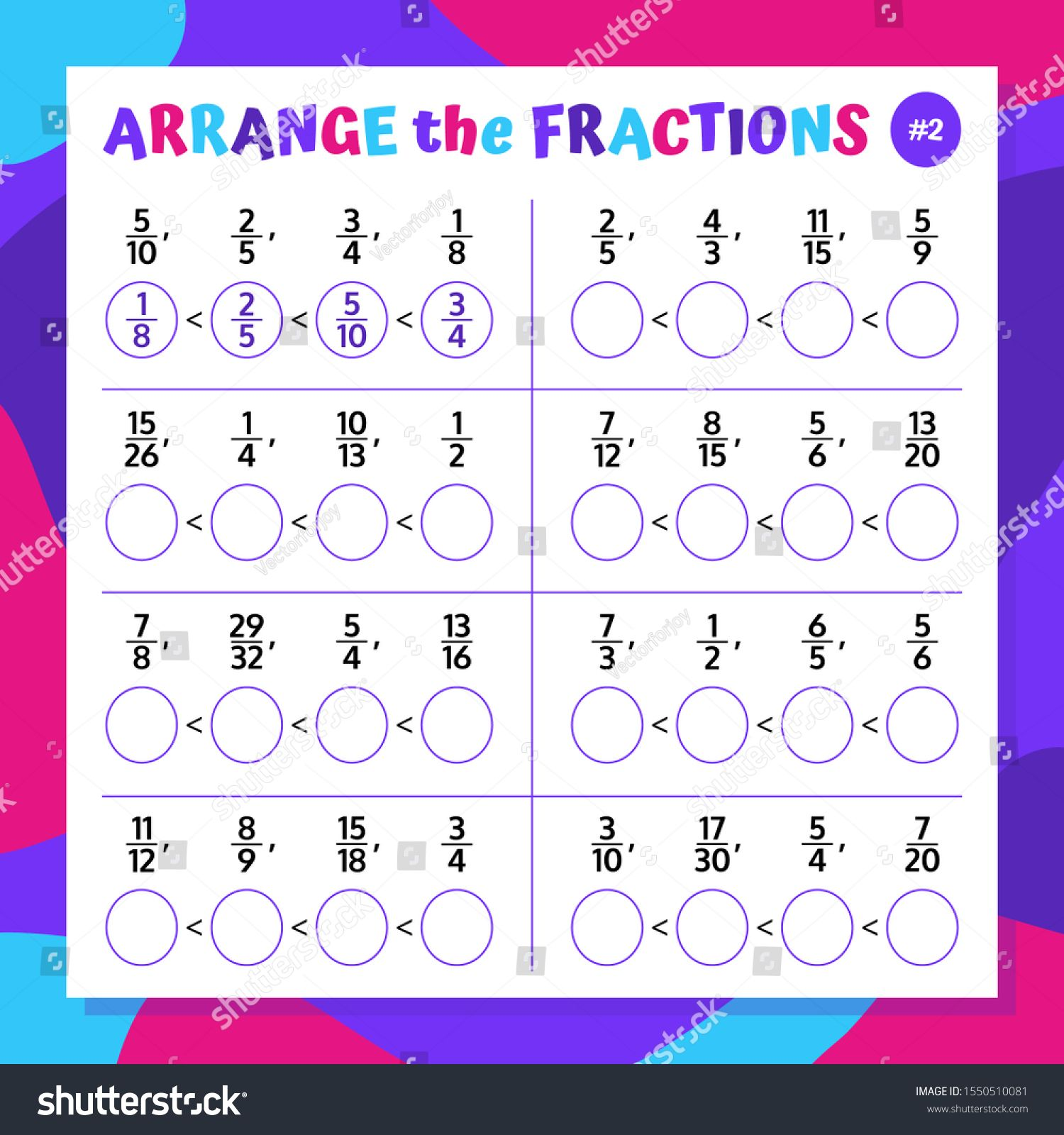 Comparing And Ranging The Fractions Mathematical Worksheet Math Puzzle Educational Game Ad Aff Fractions Mathematical Com Fractions Maths Puzzles Math Adding vectors worksheet answer key
