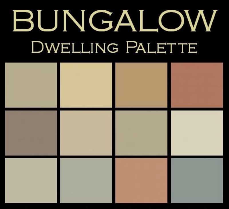 Interior color palettes for arts crafts homes bungalow for Arts and crafts house colors
