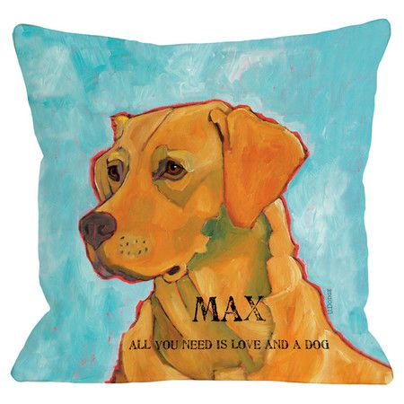 Personalized Lab Pillow in Blue