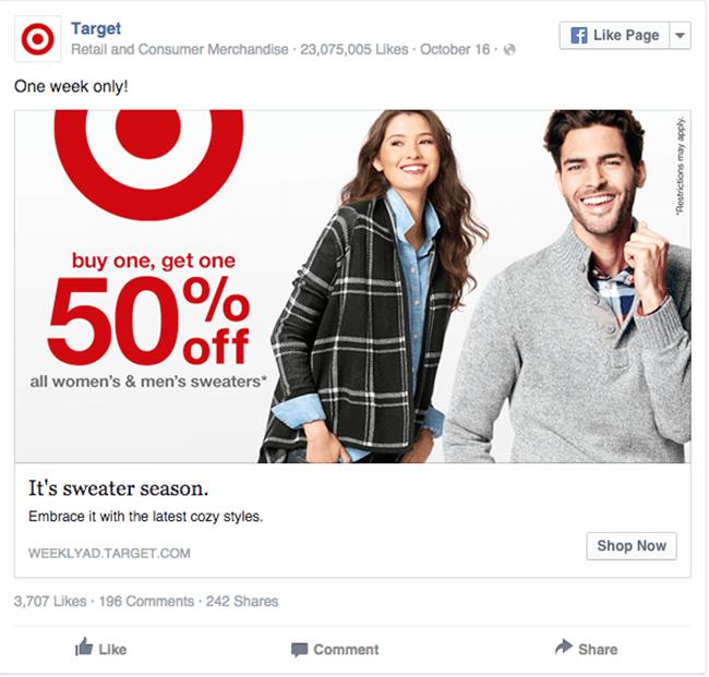 Image Result For Target Web Ad Facebook Ads Examples Facebook Ads Design Ad Campaign