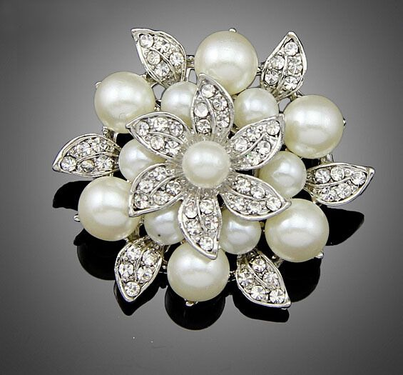 Find More Brooches Information About Retail New Hot Selling Vintage Flower Pin Brooch Clear C Fashion Wedding Jewelry Vintage Wedding Jewelry Wedding Jewelry