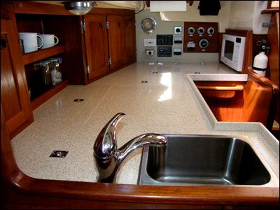 Wind Borne Iii 39 S Galley Refitted Yacht Pinterest