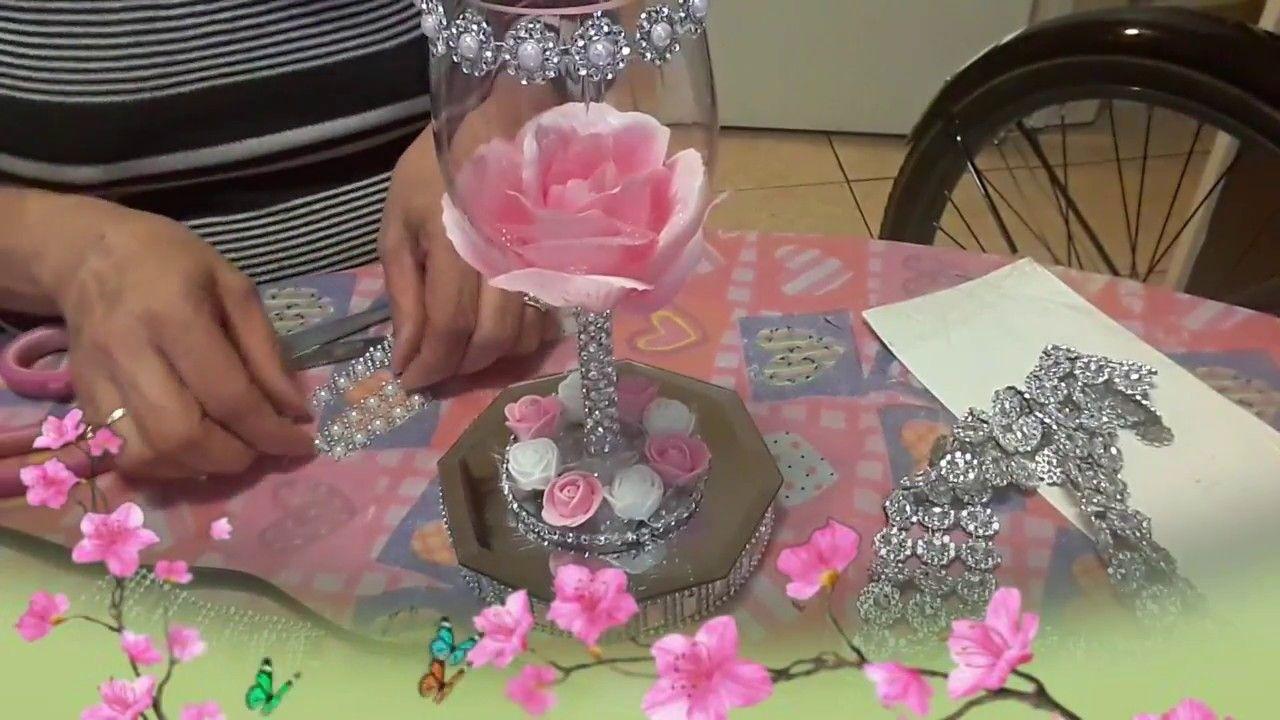 14 Copas con flores para centro de mesa