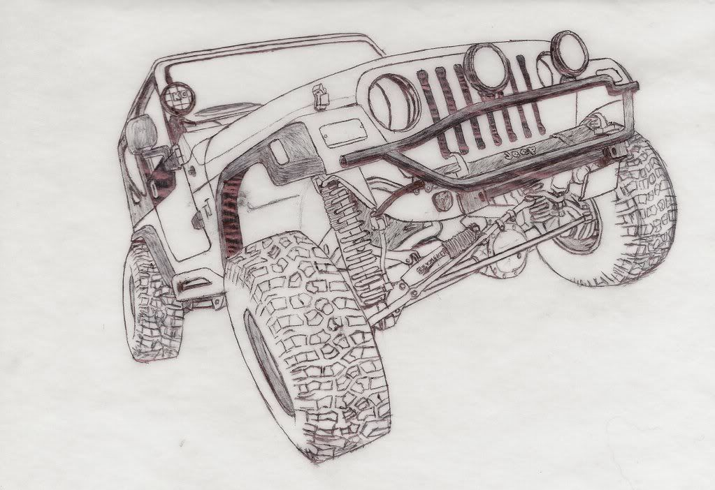 Great #Wrangler TJ suspension shot for the Jeep coloring book ...
