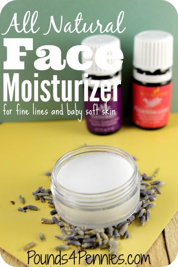 All Natural Face Moisturizer made with all natural ingredients & essential oils for soft skin.