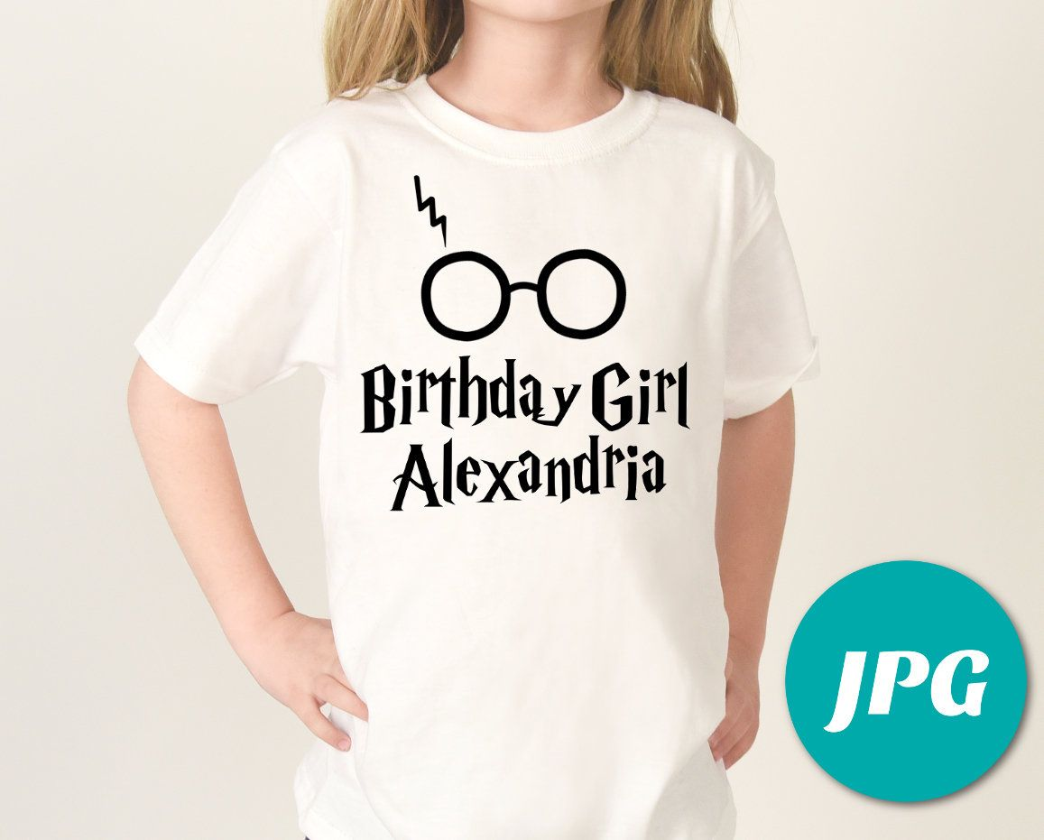 PERSONALIZED Print at Home Hot Harry P Birthday Girl Printable Iron ...