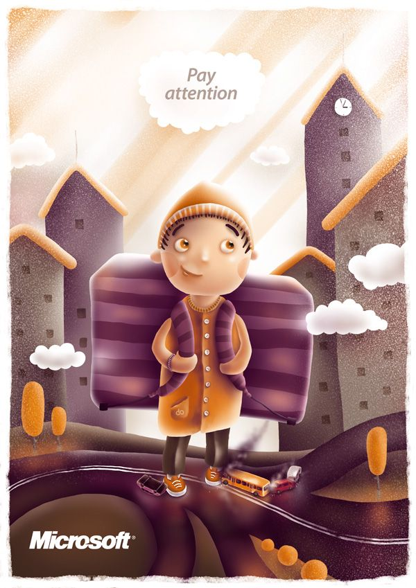 Road Safety for Kids by Fil Dunsky, via Behance