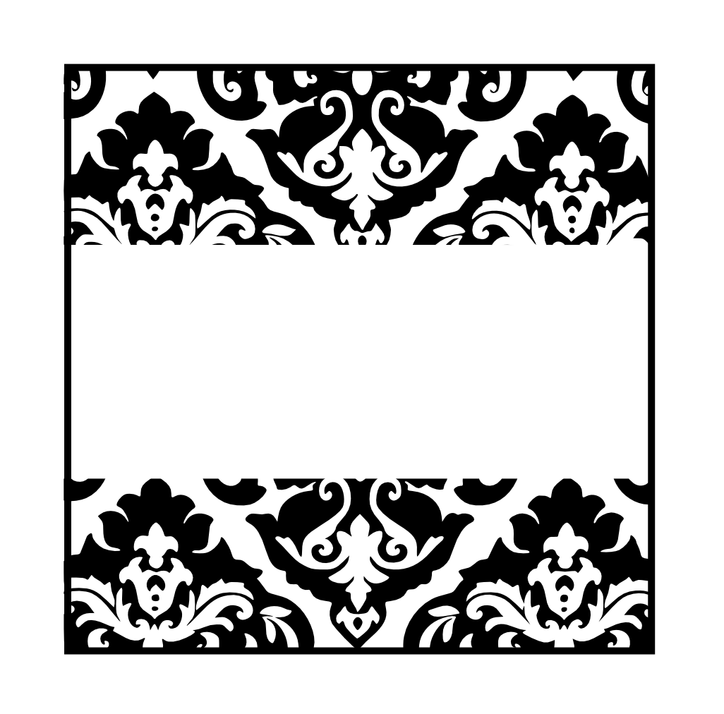 Black and White Damasks: Free Printable Toppers and Labels ...