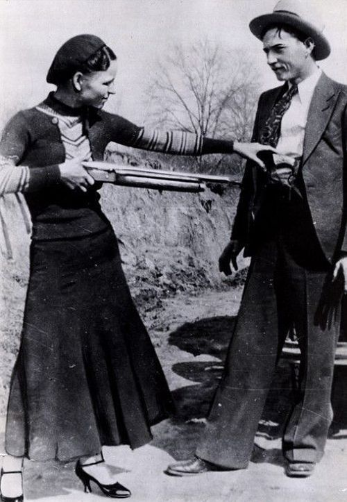 Bonnie and Clyde messing around