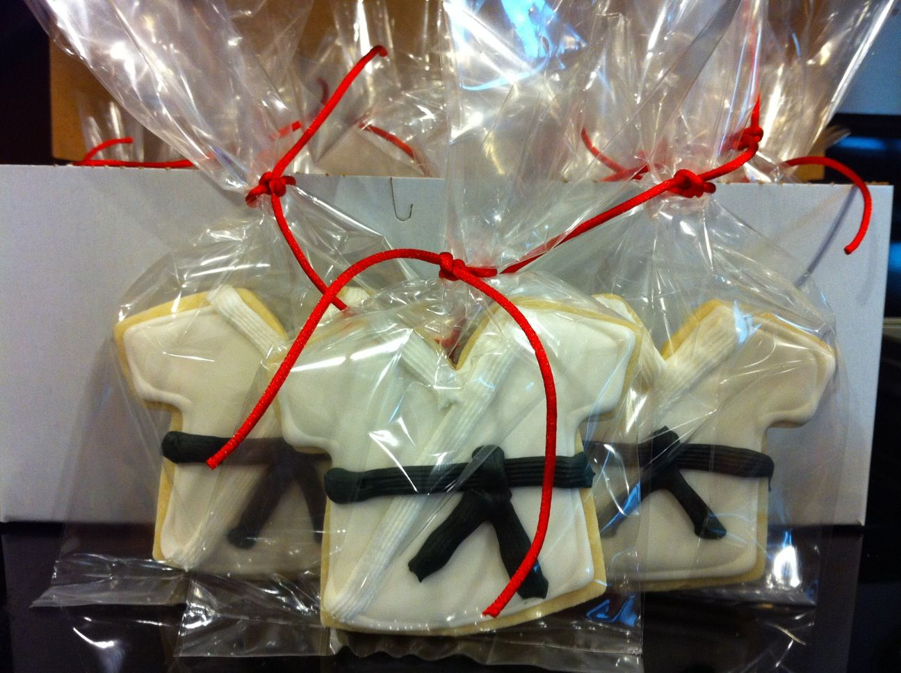 cookie favors for karate party