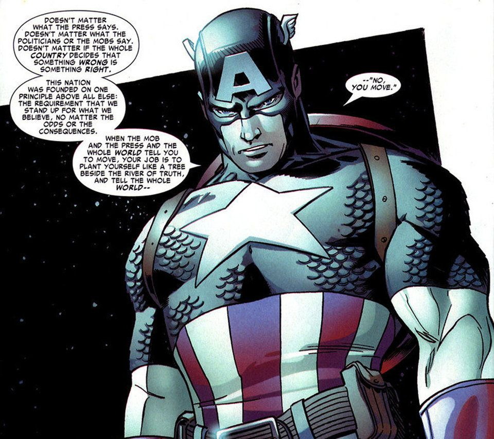 Captain America quotes Mark Twain