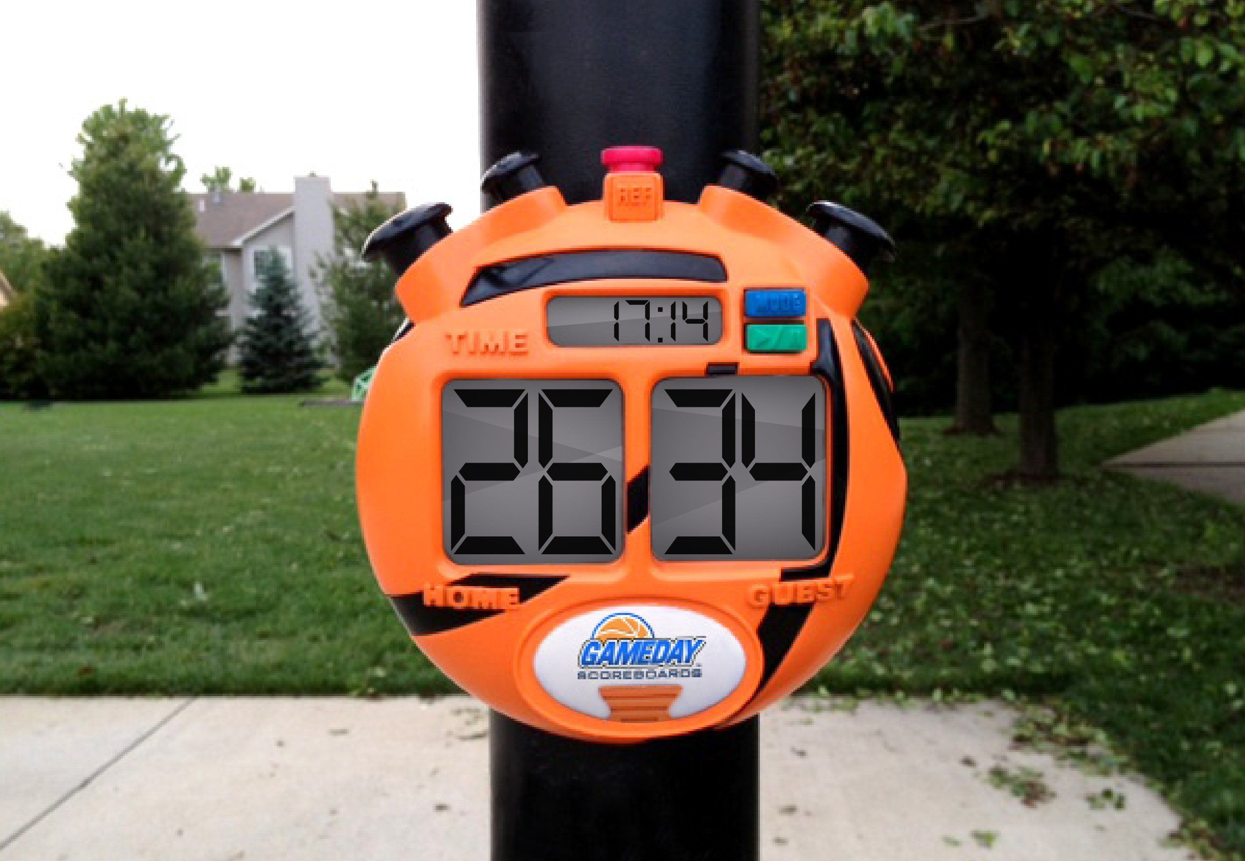 gameday basketball scoreboard for kids portable driveway basketball