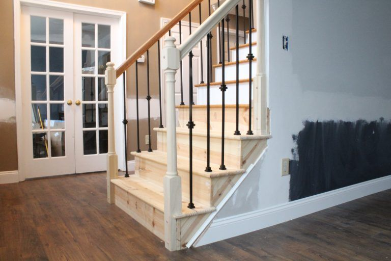 Best Changing Wood Stair Balusters To Iron 8 Steps With Video With Images Diy Stair Railing 400 x 300