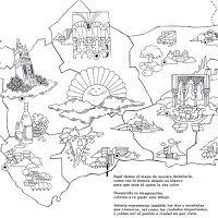 Pinta Andalucia Y Sus Monumentos Dia De Andalucia Mapa De Andalucia Andalucia
