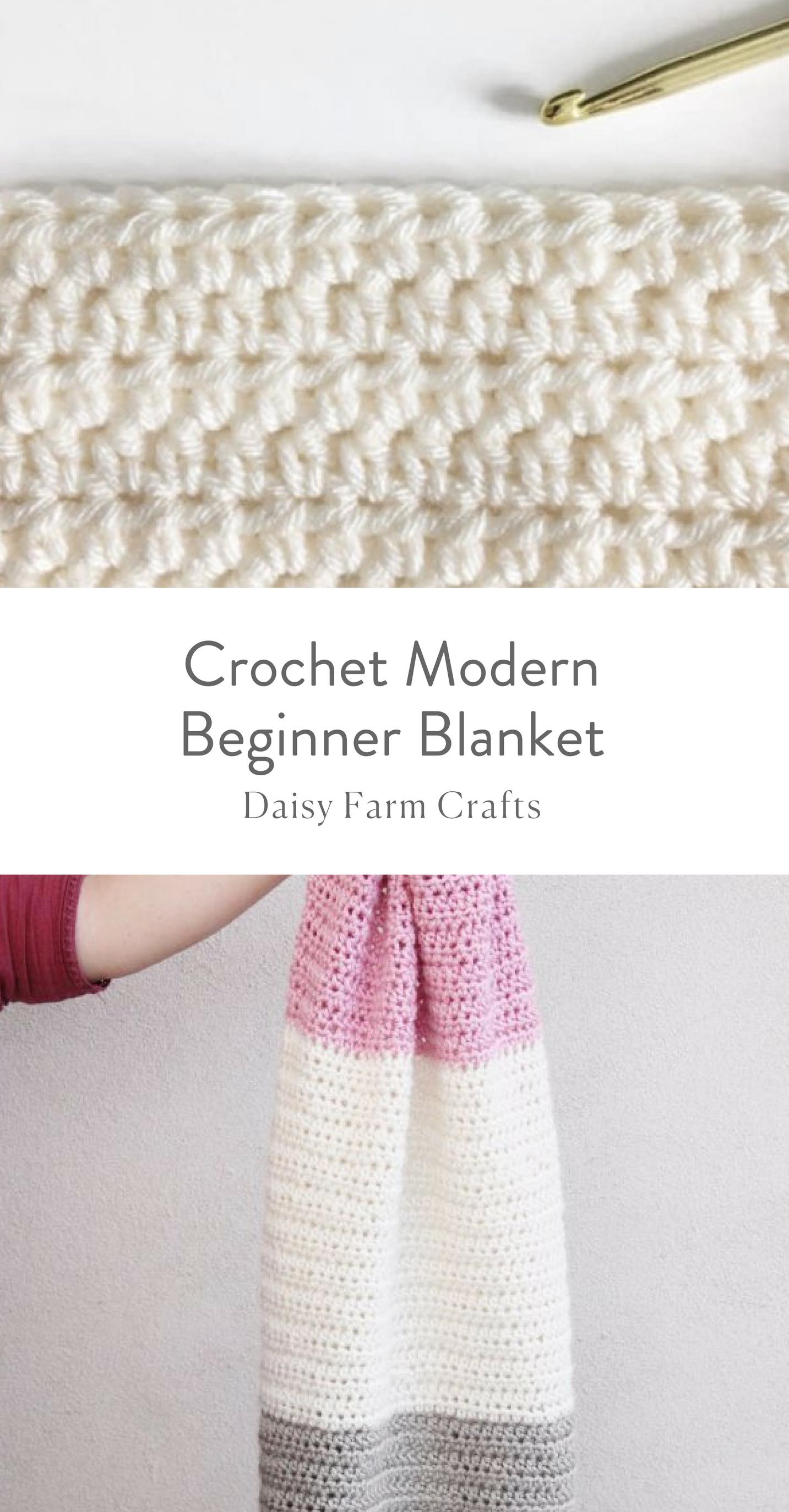 Free Pattern - Crochet Modern Beginner Blanket | Crochet | Pinterest ...