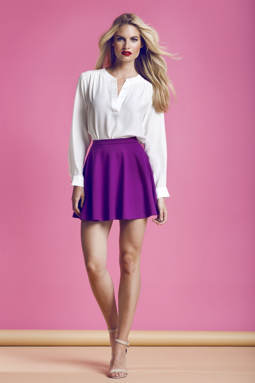 Highliner Shirt, Ivory, with Circle Skirt, Orchid. LOVE the Orchid ...