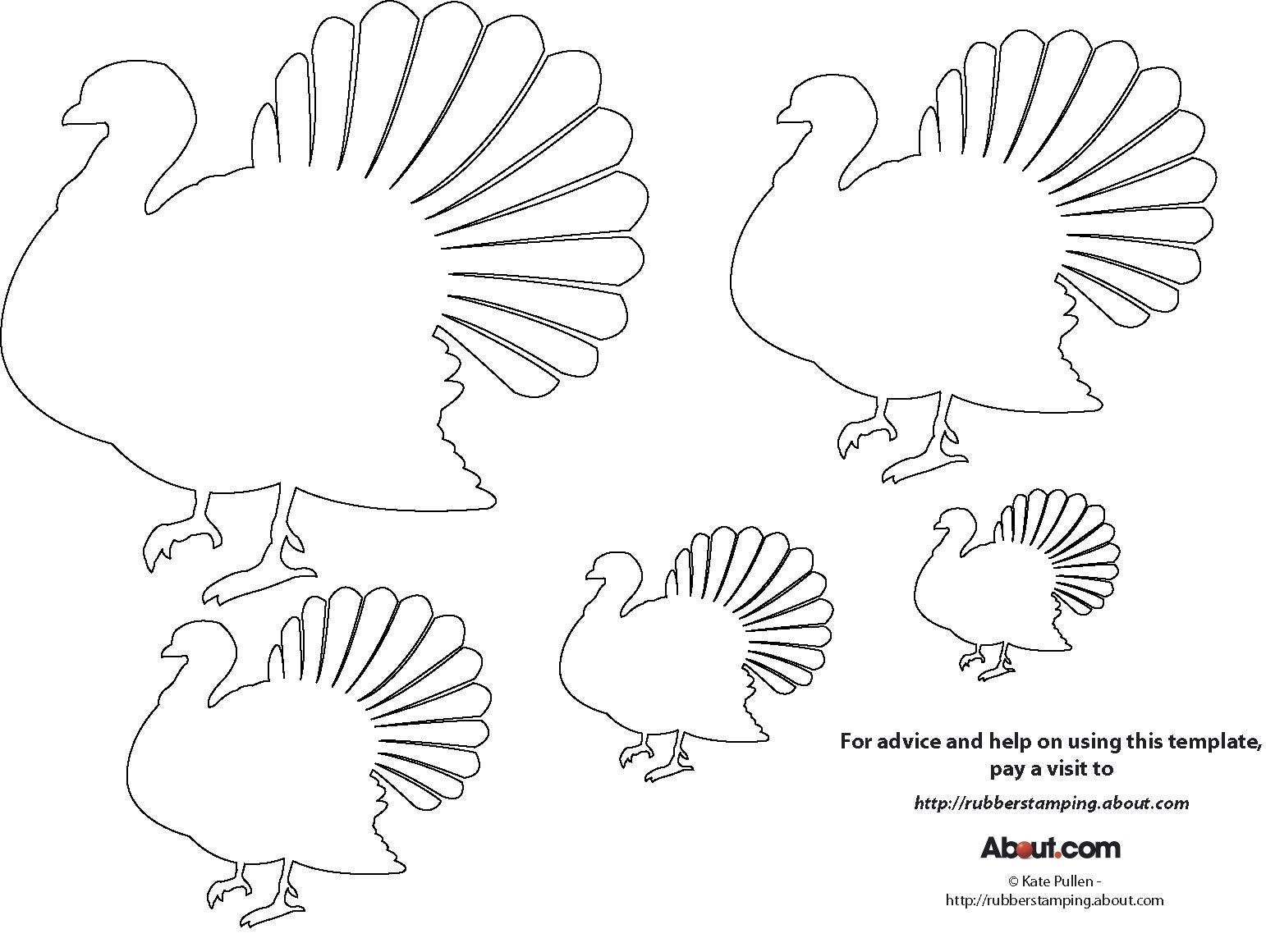 It is an image of Fan Turkey Stencil Printable